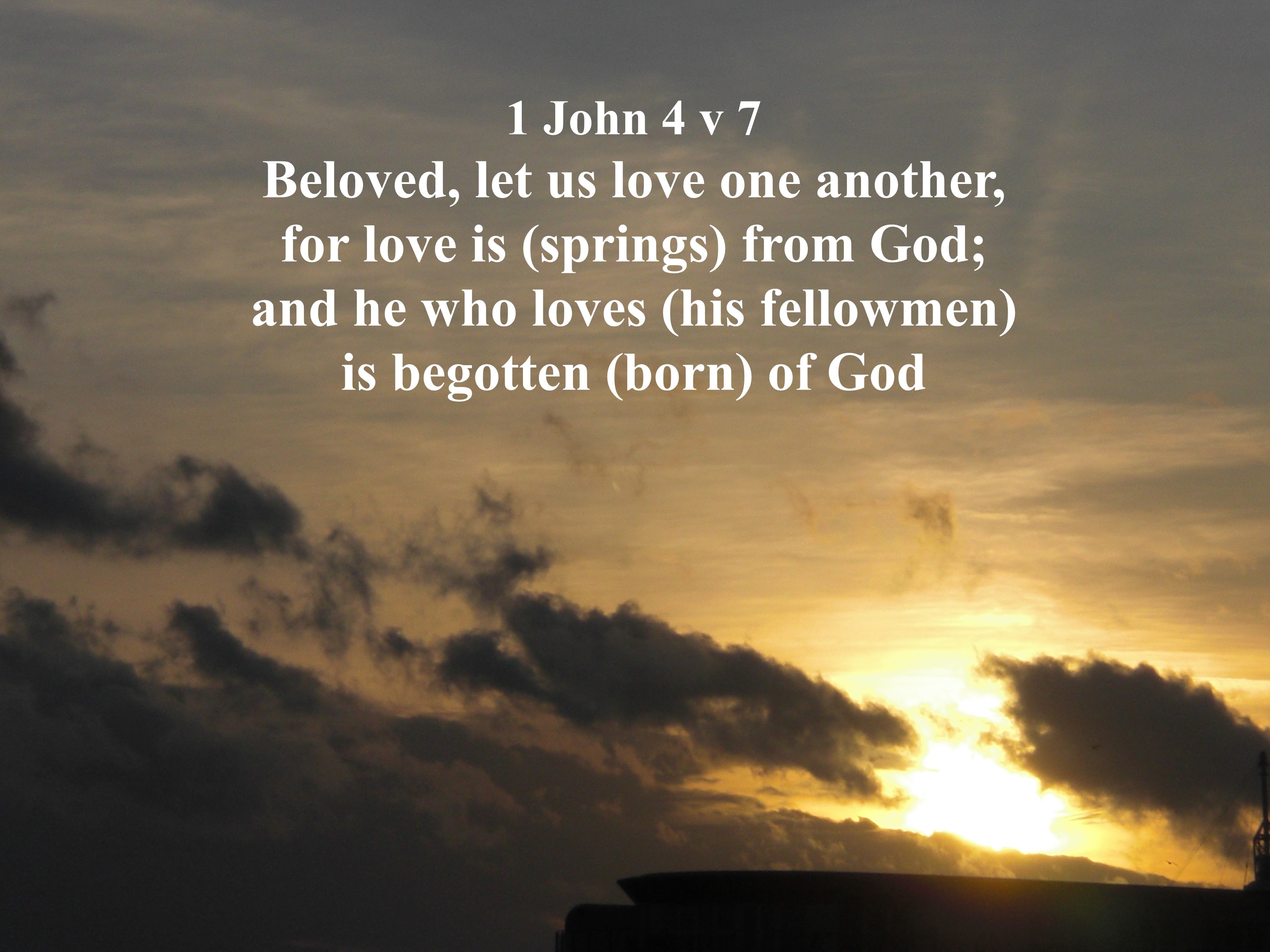 """love one another """"a new command i give you: love one another as i have loved you, so you must love one another by this everyone will know that you are my disciples, if you love."""