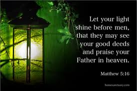 Eph 5:8 ERV (8) In the past you were full of darkness, but now you are full of light in the Lord. So live like children who belong to the light.